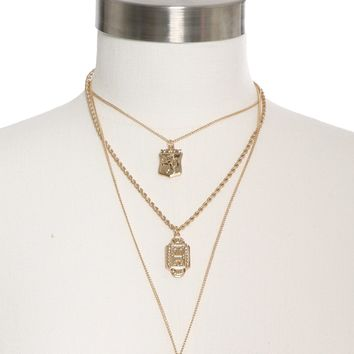 Dylan Skye Roman Three Layered Necklace