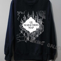 The Marauder's Map Shirt Harry Potter Map Shirt Sweatshirt Sweater Unisex - Size S M L