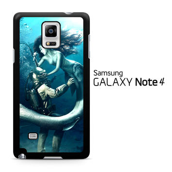 Diver and The Mermaid Samsung Galaxy Note 4 Case