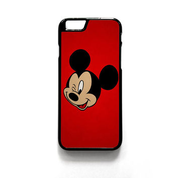 Mickey Mouse Red Background Wallpaper for phone case iPhone 4/4S, iPhone 5/5S/5C, iPhone 6/6S/6 Plus/6S Plus