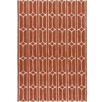 Allegra Orange Area Rug