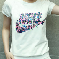 "Fashion ""Nike"" Print Printing Logo Women T-Shirt Top Tee"