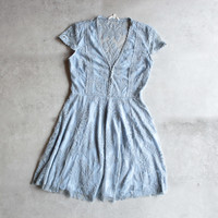so baroque about you romantic lace dress in dusty blue [womens]