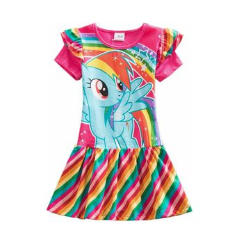 Neat Retail Baby girl clothes Lovelydresses kids clothes my little pony girl party dress cotton girl clothes SH6010