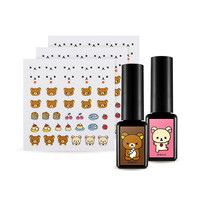 [APIEU] One Touch Gel Nail Deco Kit [Rilakkuma Edition]