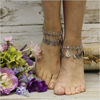 BELLA ankle bracelet - antique silver