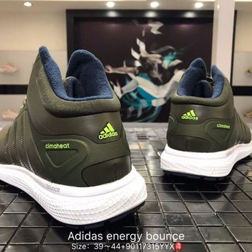 Adidas energy bounce leather breathable green Fashion Casual Sports Shoes 90117315YYX Best Goods
