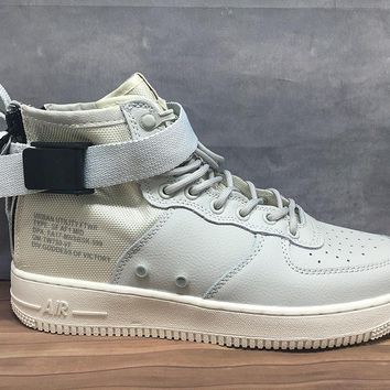 LMFON Nike Air Force 1 Mid 30 Year Grey For Women Men Running Sport Casual Shoes Sneakers