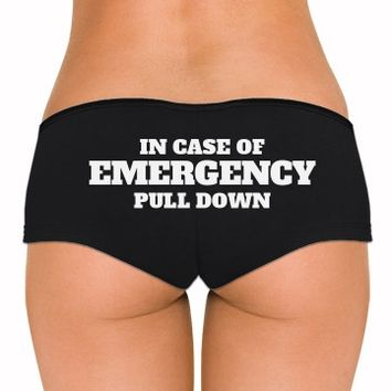 Pull Down in Case of Emergency: Dirty Laundry Underwear