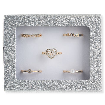 Love Sparkle Ring 5-Pack