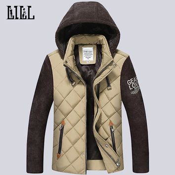 2016 Winter Mens Down Jackets Men Thermal Breathable Cotton Clothes Spring Cotton-Padded Coats Casual Male Feather Jacket,UMA308