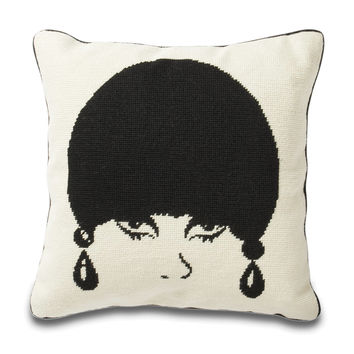 Jonathan Adler Mod Model Needlepoint Throw Pillow
