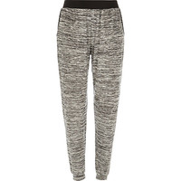 River Island Womens Grey neppy light joggers