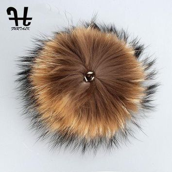 ONETOW FURTALK Real Raccoon Fur Pom Pom for Mobile Strap Coppia Fluffy Fox Fur Ball Fix on Cap