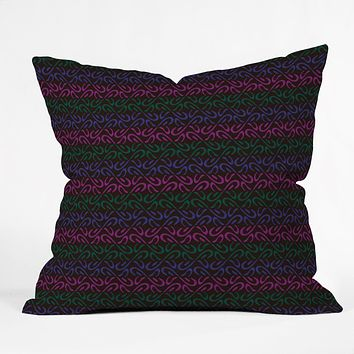 Wagner Campelo Organic Stripes 4 Throw Pillow