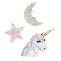 Unicorn, Star & Moon Sequin Patch Kit