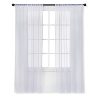 Room Essentials™ Snow White Sheer Curtain Panel Crinkle 40X84 - 40X84