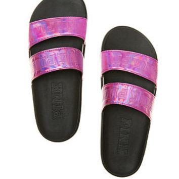 Double Strap Sport Slide - PINK - Victoria's Secret