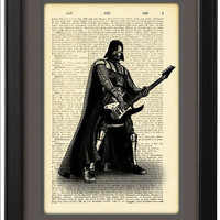 Art Print Poster,Darth Vader,Star Wars, Movie poster,Music,Guitar,DICTIONARY Print, Book Pages,Home Decor,DORM,Gift,Wall Art decor,CODE/049