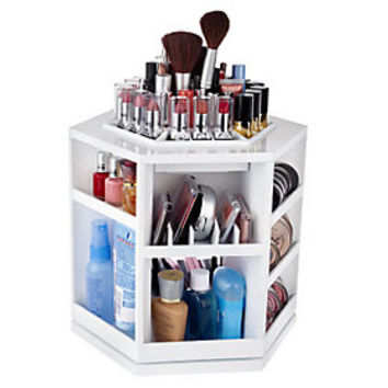 Tabletop Spinning Cosmetic Organizer by Lori Greiner — QVC.com