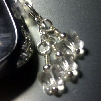 Swarovski Crystal Butterflies Cell Phone Dust Plug Charm