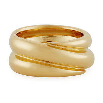 Roberto Coin Double Band Ring in 18K Gold