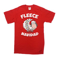 Funny Christmas T Shirt Fleece Navidad Feliz Navidad Christmas Gift Ideas Gifts For Holidays Christmas Outfits Holiday Tops Xmas Tee - SA514