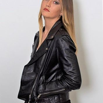 Womens Moto Nappa Leather Jacket - Limited Stock
