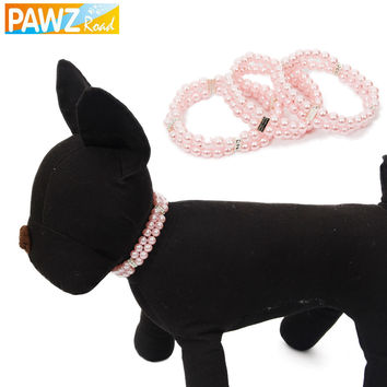 Fashion Free Shipping Pet Necklace Dog Pearls Pet Collar Dog Jewelry Charm Necklace Puppy Dog and Cat Collar Pet Supplies