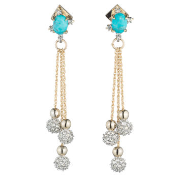 Crystal Encrusted Dangling Sphere Post Earring | Alexis Bittar
