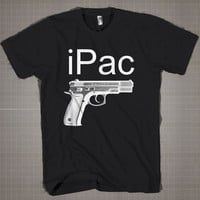 iPac Hand gun Weapon 2nd Amendment Shoot Pack  Mens and Women T-Shirt Available Color Black And White