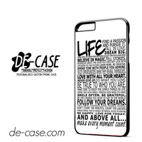 Life Quotes In White DEAL-6486 Apple Phonecase Cover For Iphone 6/ 6S Plus