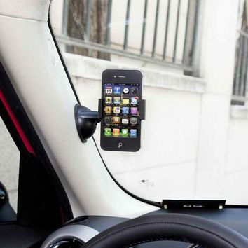 GreatShield Flex Grip Lightweight Windshield Dashboard Universal Car Mount Holder for Cell Phones and GPS Devices - Works with Samsung Galaxy S4 IV Galaxy S3 S III Apple iPhone 5 4/4S Google Nexus 4 Samsung Galaxy Note Epic 4G Touch HTC One M7 X V S Droid