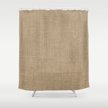 Shower Curtain - Linen Look - Rustic Decor - Woodland Decor - Farmhouse Chic - Cabin Decor - Cottage Chic - Boho Decor