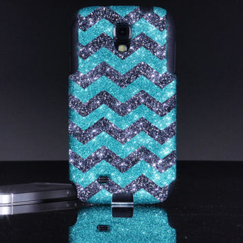 Otterbox Galaxy S4 Case - Samsung Galaxy S4 Otterbox Custom Glitter Paradise/Smoke - Sparkly Bling Glitter Case