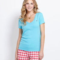 Women's Tees: Simple V-Neck Tee for Women - Vineyard Vines