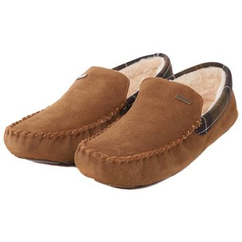 Monty Moccasin Slippers in Camel by Barbour - FINAL SALE