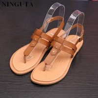 ONETOW casual gladiator sandals women shoes woman summer shoe flat heel  number 1