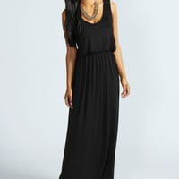Serena Bagged Over Racer Back Maxi Dress