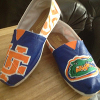 University of Florida Gators Custom Painted Toms Shoes