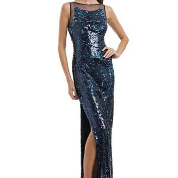 JS Collections - Sleeveless Shimmering Sequins Gown 864820