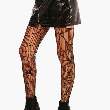 Halloween Charlotte Cob Web Fishnet Tights | Boohoo
