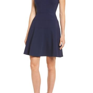 Halogen® Ponte Fit & Flare Dress (Regular & Petite) | Nordstrom