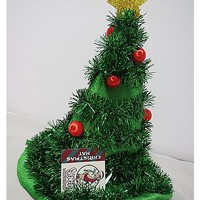 Light Up Tinsel Tree Hat - Spencer's