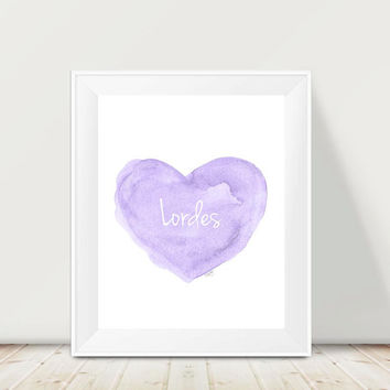 Purple Nursery Decor, 11x14, Watercolor Print, Lavender Nursery Decor, Personalized Print, Baby Girl Nursery Art, Lavender Wall Decor