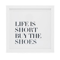 Life is Short Wall Decor