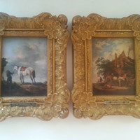 Vintage Holland Framed Pictures, Ornate Framed Equestrian Prints, White Horse Home Decor, 1619 - PH. Wouwermans - 1668 Reproduction Print