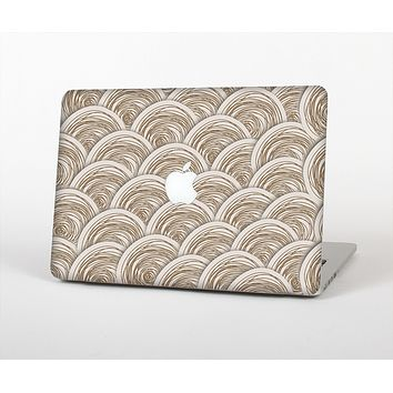 The Layered Tan Circle Pattern Skin for the Apple MacBook Air 13""