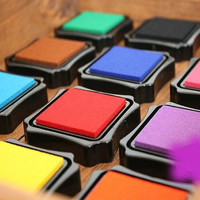 12 Pcs Korea High Quality Stamps Partner Diy Ink Pad
