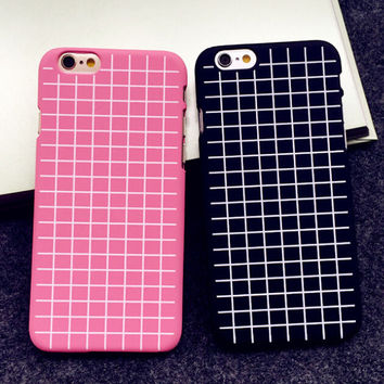 Ultrathin Grid creative case Best Protection Cover for iPhone 5s 6 6s Plus Gift-151